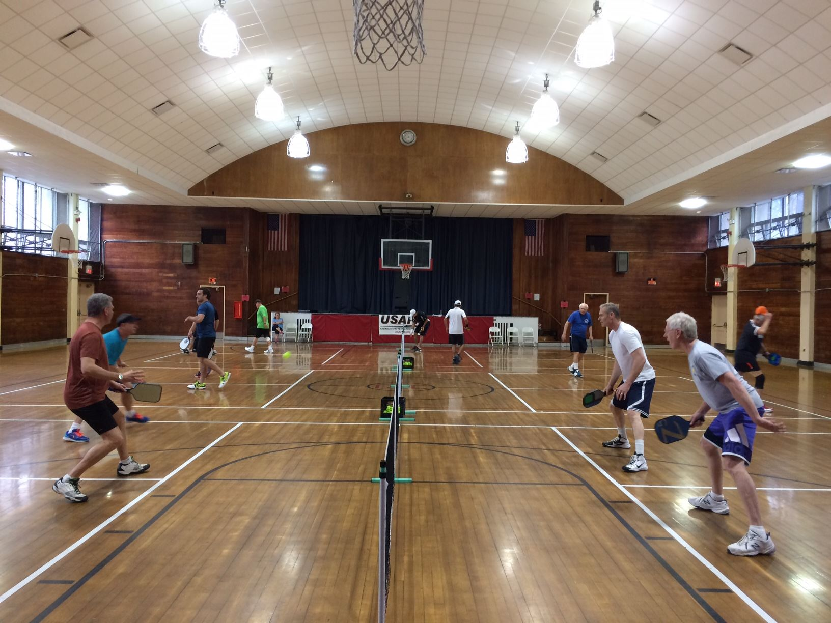 Adult Pickleball game